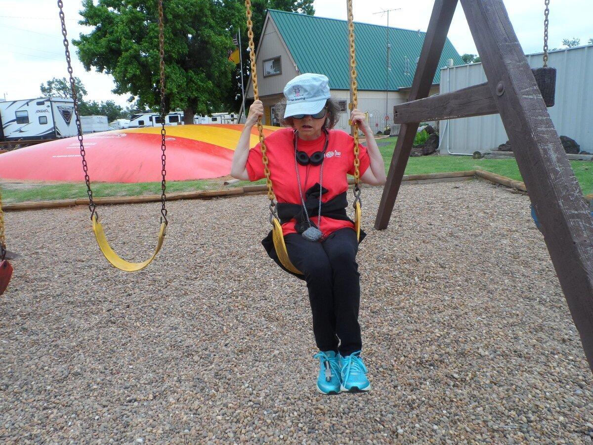 Tonya on swing
