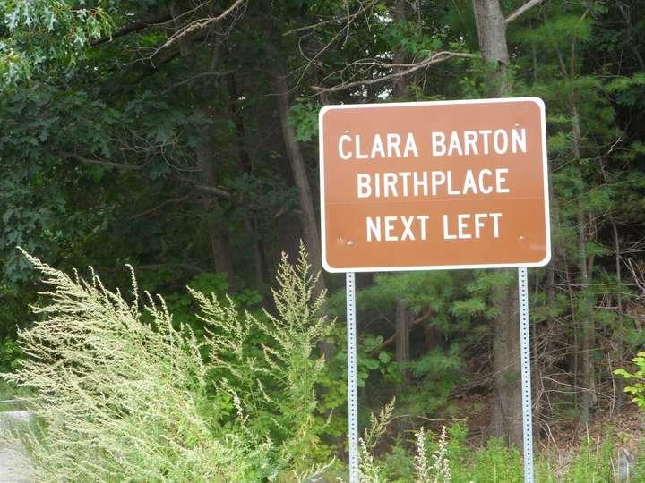 sign for Clara Barton's house