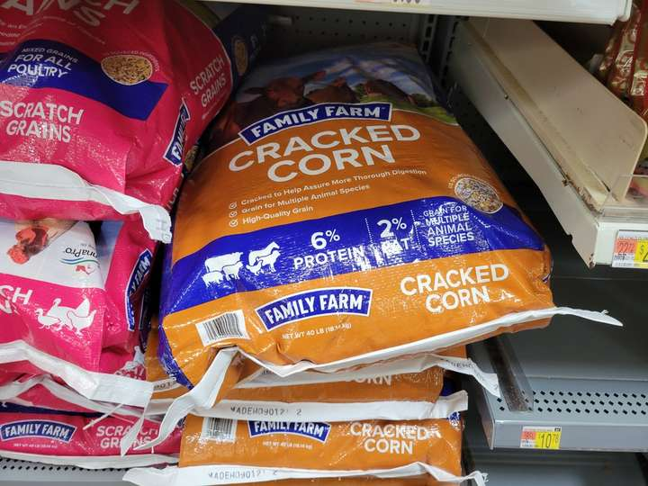 bag of cracked corn