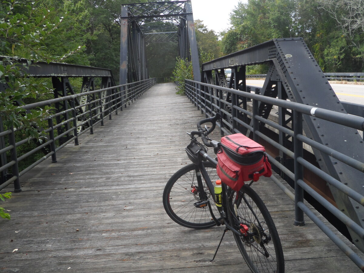 bike on old bridge